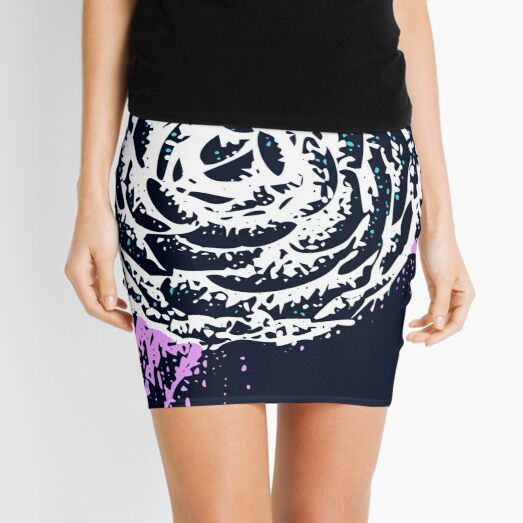 Blue flower Mini Skirt
