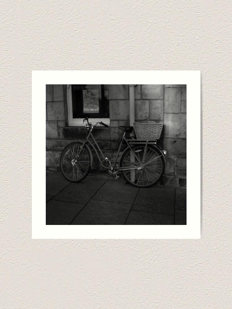 Alternate view of St. Andrews Bicycle Art Print