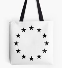 EU Blackstar Flag Tote Bag