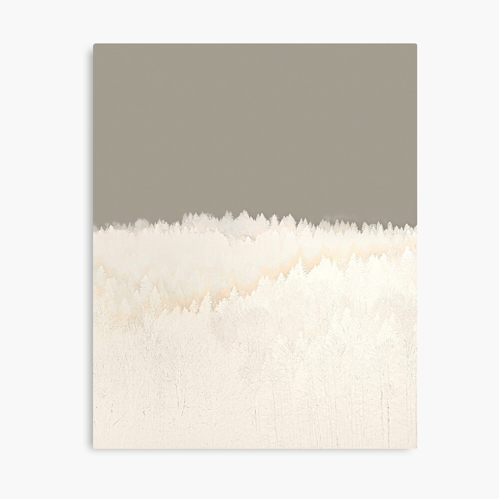 Pale Forest Abstract Canvas Print