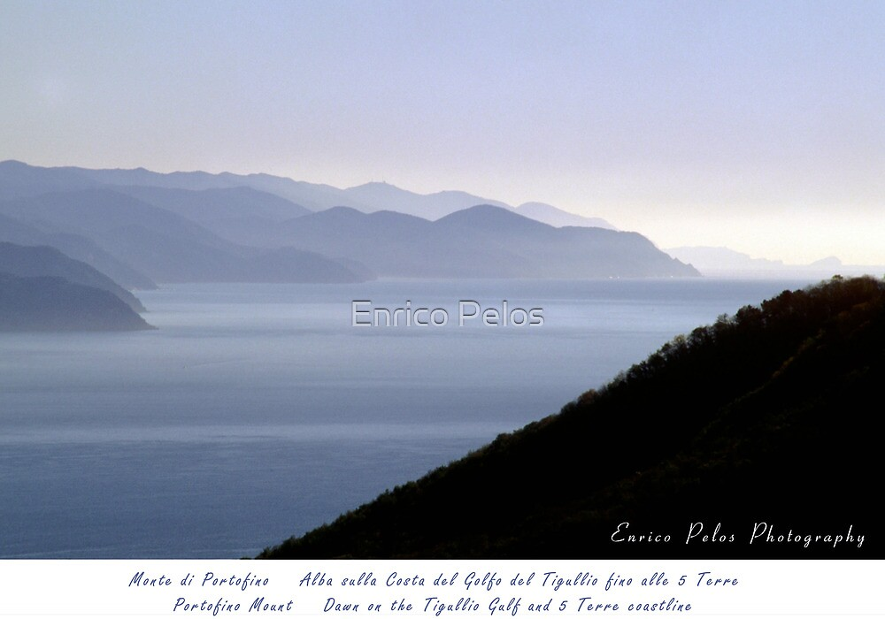 LIGURIA SEA LANDSCAPE Tigullio Coastline up to 5 Terre by Enrico Pelos