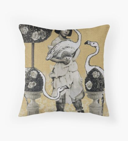 Alice Plays at Croquet Throw Pillow