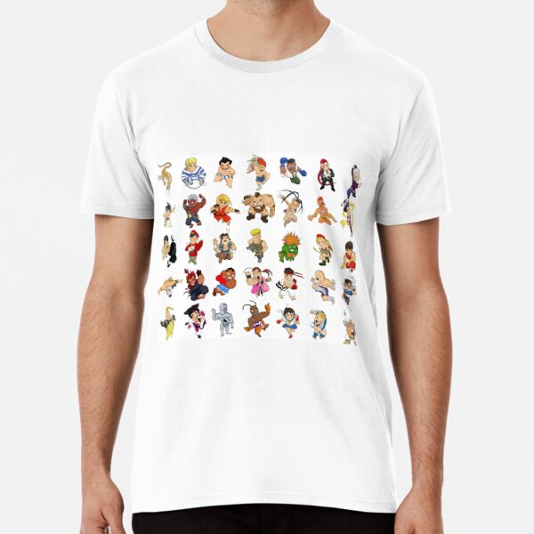All characters of Street Fighter IV - SD T-shirt premium
