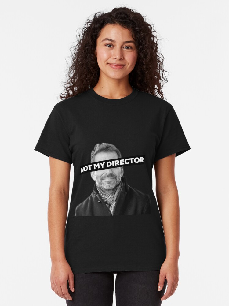 """Alternate view of Zack Snyder """"Not My Director"""" Classic T-Shirt"""