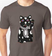 Black Maneki Neko (Lucky Cat) Unisex T-Shirt