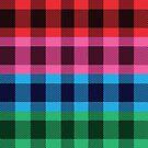 Four colors plaid pattern by artonwear