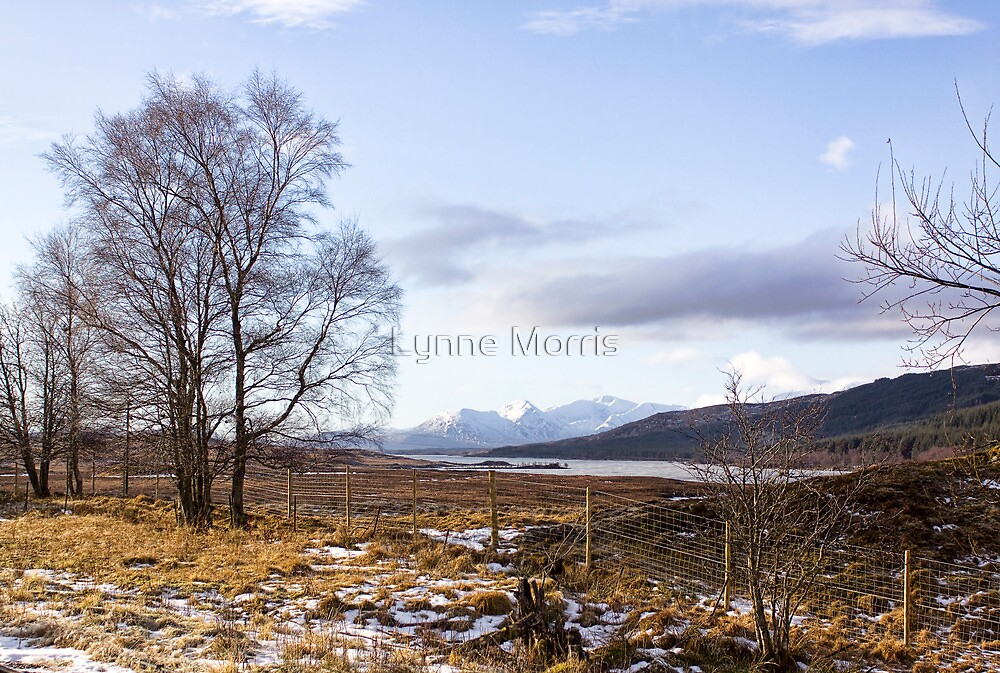 Loch Laiden And The Black Mount by Lynne Morris