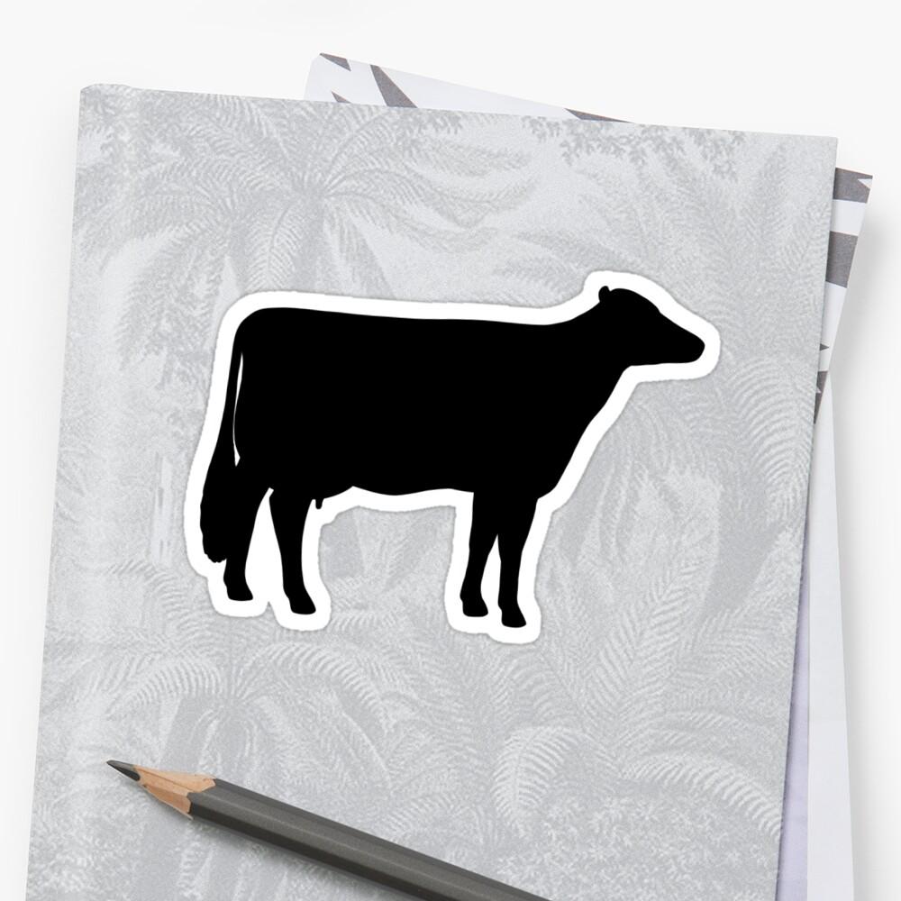 Holstein-Kuh-Silhouette (n) Sticker