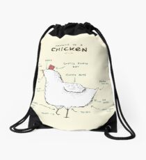 Anatomy of a Chicken Drawstring Bag