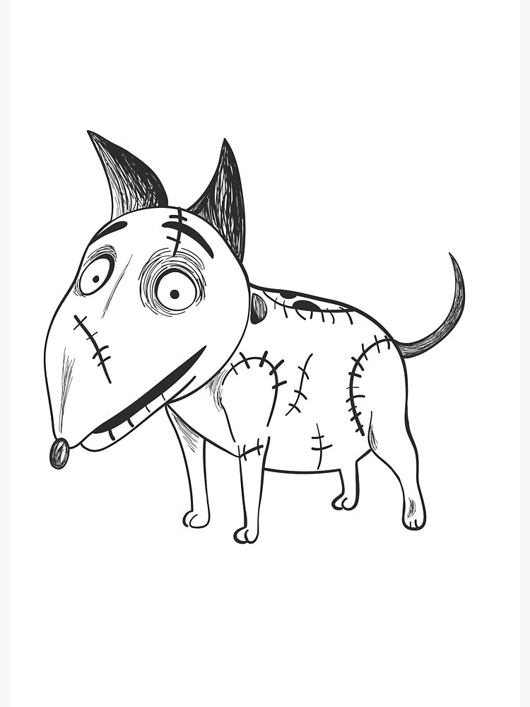 Sparky From Frankenweenie Art Board Print By Rosiecheecks Redbubble