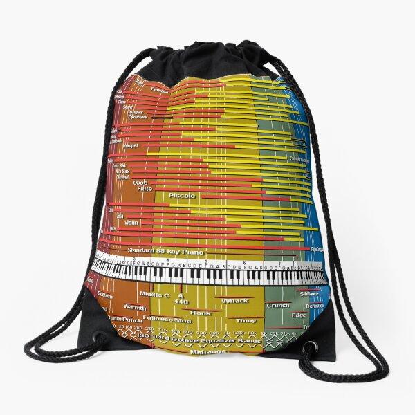 Sound Spectrum Instrument Chart Drawstring Bag