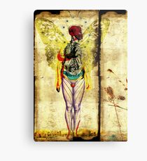 man,nature and city on fire  Metal Print