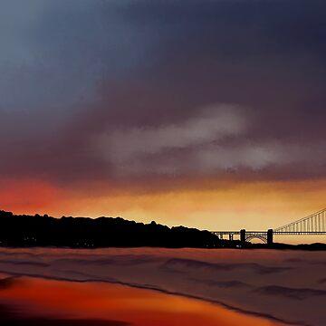 Golden Gate Sunset by BHDigitalArt