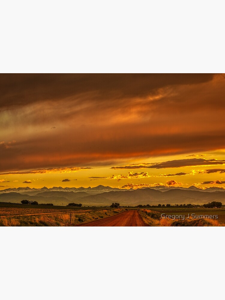 Sunset In Gold And Red by nikongreg