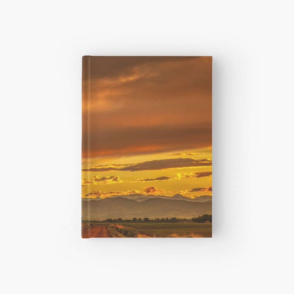 Sunset In Gold And Red Hardcover Journal