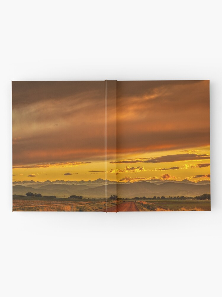 Alternate view of Sunset In Gold And Red Hardcover Journal
