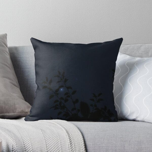 Starlight with Leaves Throw Pillow
