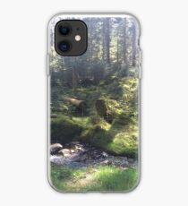 Light on the Forest Floor, Achray Forest iPhone Case