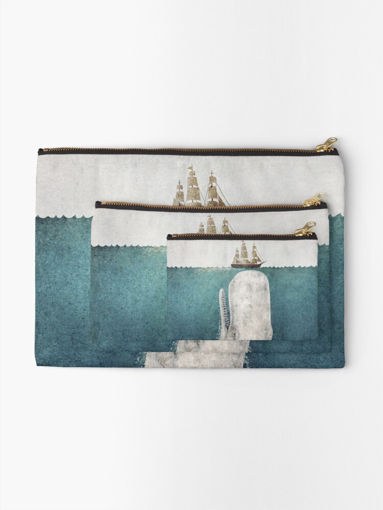 Alternate view of The Whale (Vintage) Zipper Pouch