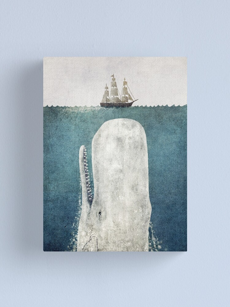 Alternate view of The Whale (Vintage) Canvas Print