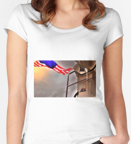 To Fallen Heros-Old Glory Women's Fitted Scoop T-Shirt