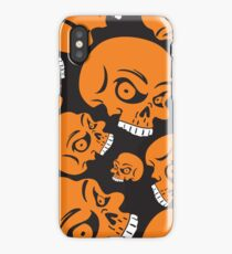 The Orange Skull - Halloween Skulls iPhone Case/Skin