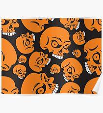 The Orange Skull - Halloween Skulls Poster