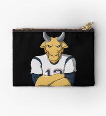 Limited Edition Tom Brady Mascot, GOAT TB-12 Shirts, Mugs & Hoodies Zipper Pouch