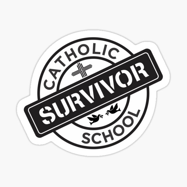 Catholic School Survivor Sticker