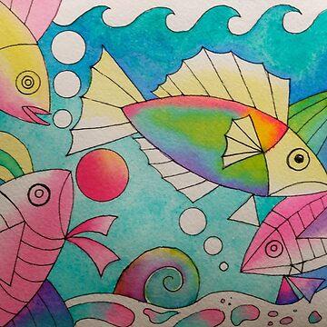 Fishies 2 watercolour by karincharlotte