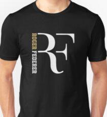 Gold White Logo Roger federer Unisex T-Shirt