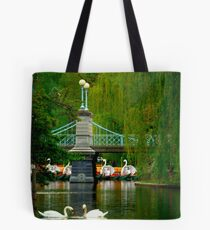 The Swans and Swan Boats Tote Bag