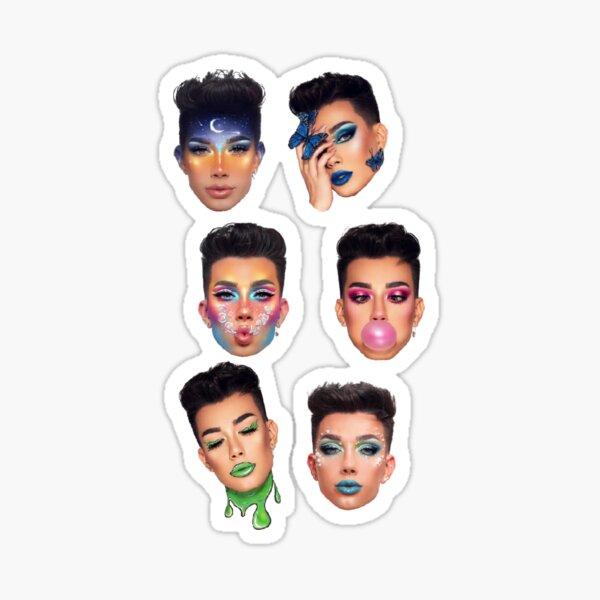 James Makeup Sticker Set Sticker