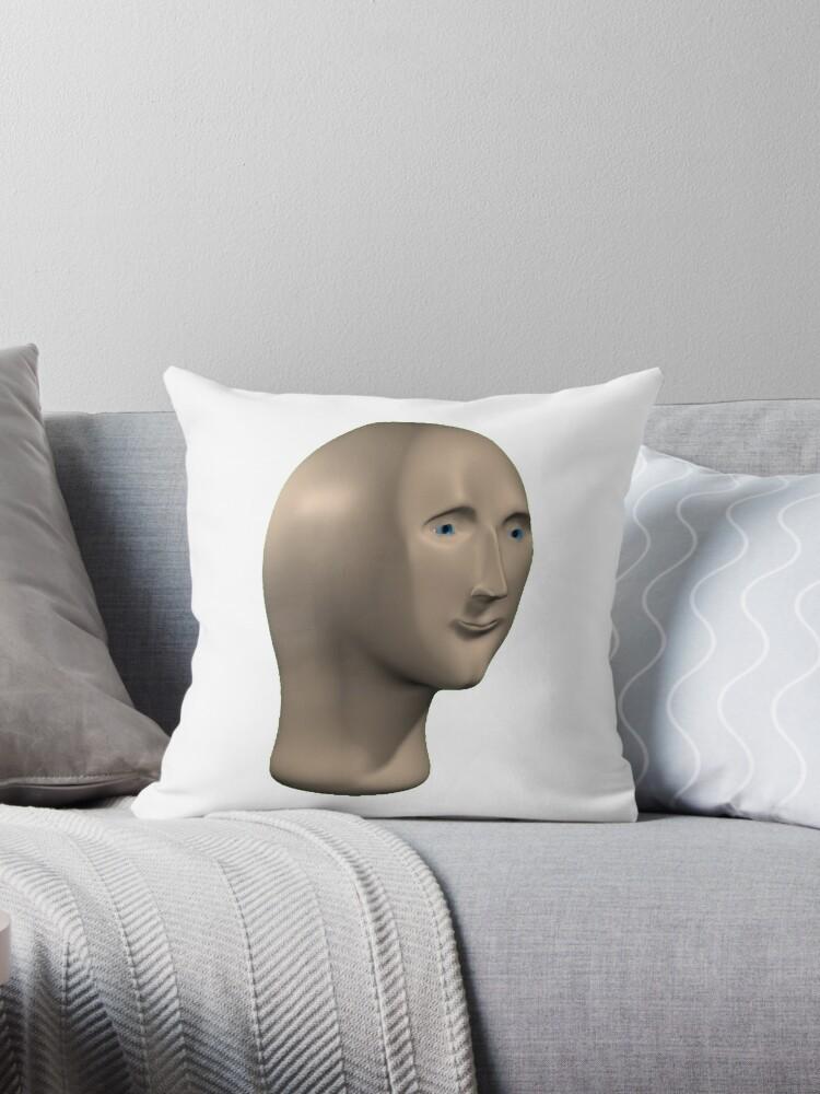 Meme Man Throw Pillow By Flashmanbiscuit Redbubble