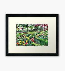 Tiptoe Through the Tulips Framed Print