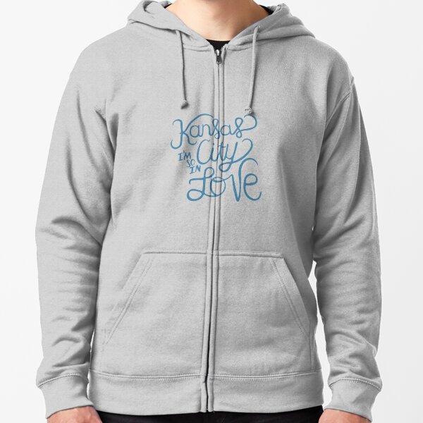Kansas City Im So In Love (Blue) Zipped Hoodie