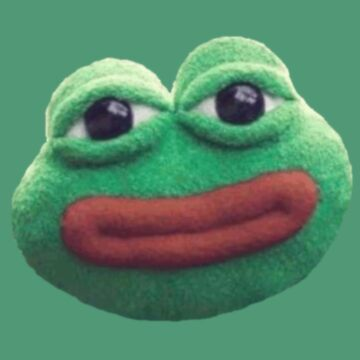 Stuffed Pepe Face by big-dingus