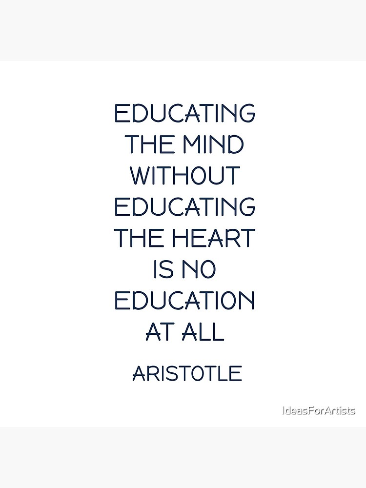 "EDUCATING THE MIND - Aristotle Greek Philosophy Quote"" Art Board ..."