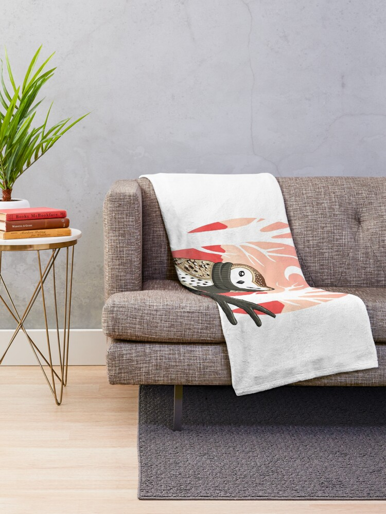 Alternate view of Winter Owl Throw Blanket
