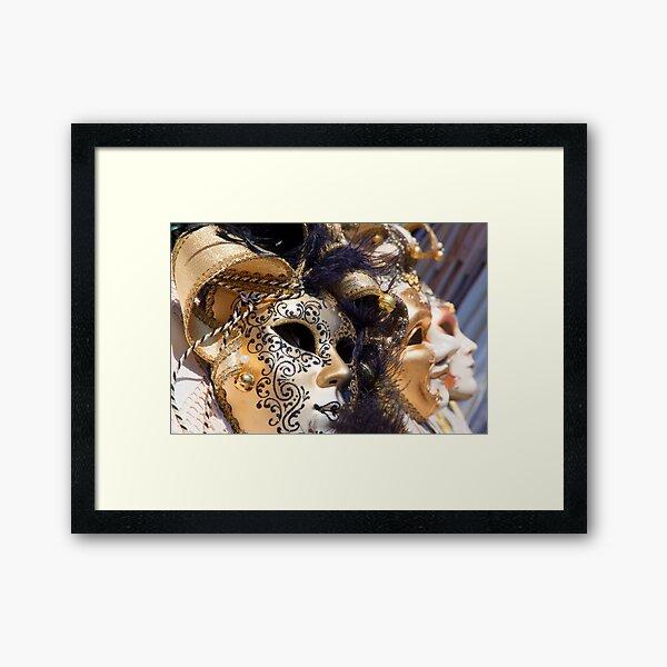 Masks Of Venice Framed Art Print
