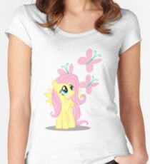Fluttershy with cutie mark Women's Fitted Scoop T-Shirt