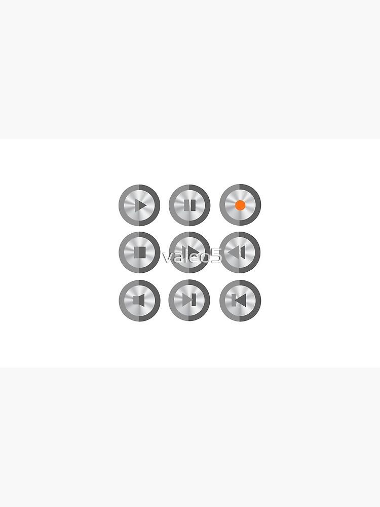 Set of Media Buttons by valeo5