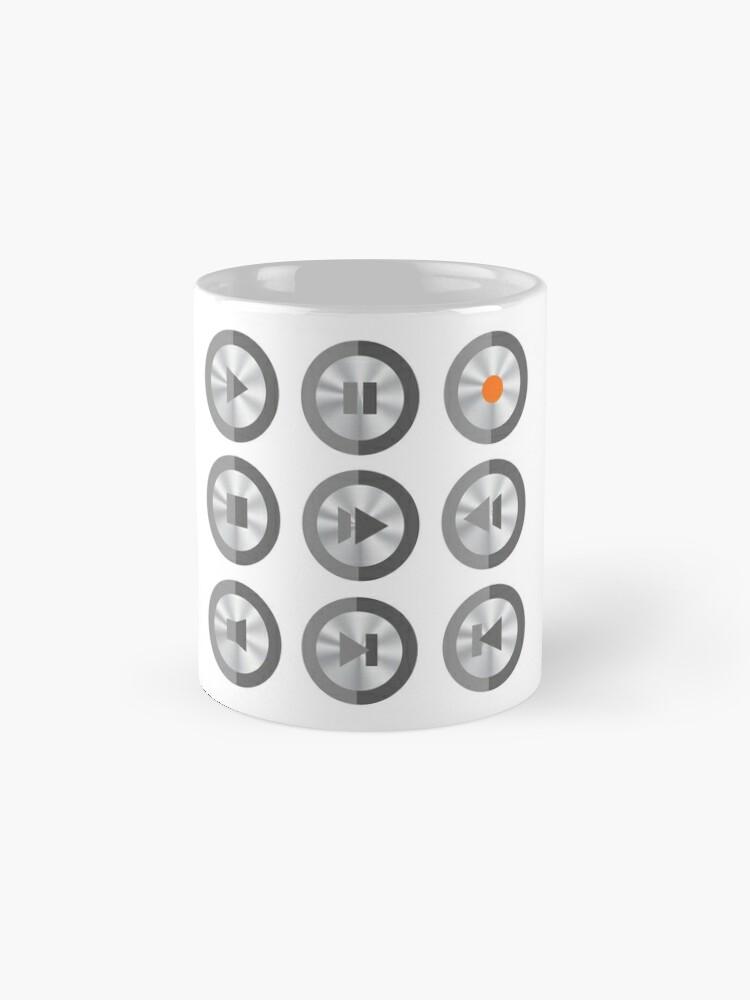 Alternate view of Set of Media Buttons Mug