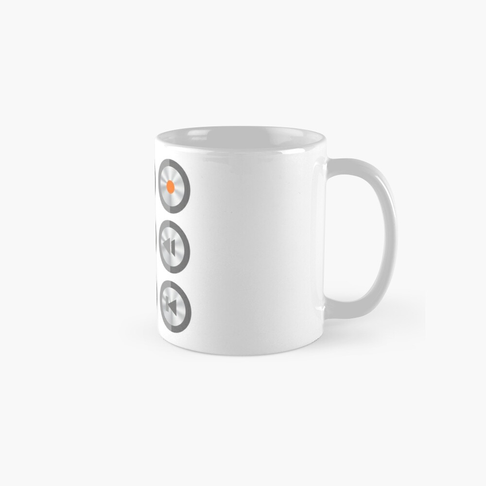 Set of Media Buttons Mug