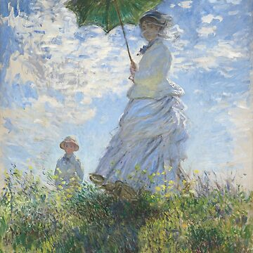 Claude Monet - Woman with A Parasol, Madame Monet and Her Son by leeseylee