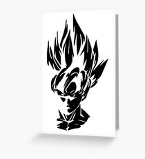 Goku Greeting Card