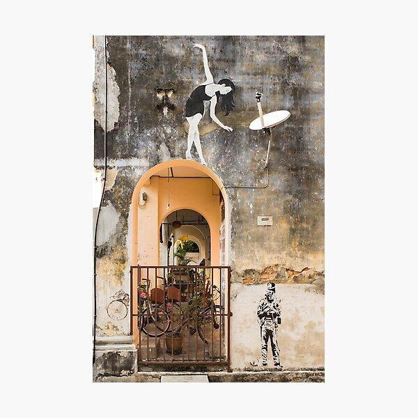 Tiny Dancer - Penang Street Art Photographic Print