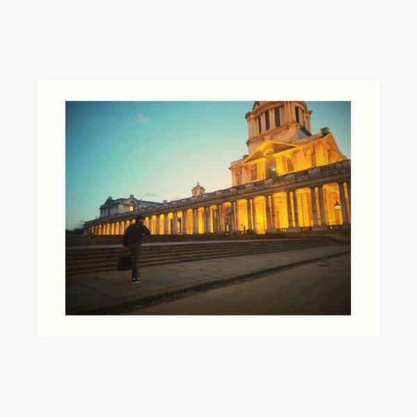 London views | University of Greenwich | Night time Art Print