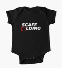 Scaffolders Tee Occupations Short Sleeve Baby One-Piece