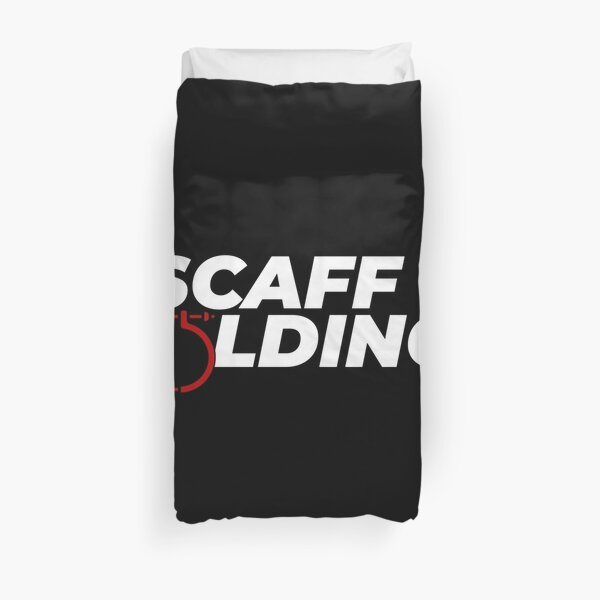 Scaffolders Tee Occupations Duvet Cover